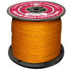 Hollow Braid Polypropylene Rope 1/4 in. x 1000 ft. Orange-CWC 100047