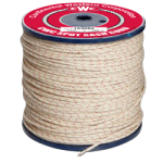 Poly-Cotton Sash Cord Size #10 5/16 in. x 1200 ft. White w/red tracer-CWC 123090
