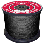 Solid Braid Nylon Rope 3/16 in. x 1000 ft. Black-CWC 108400
