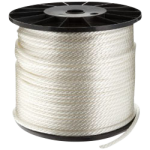 Solid Braid Nylon Rope 3/32 in. x 1000 ft. White-CWC 105005