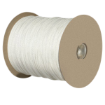 Solid Braid Polyester Rope 1/4 in. x 1000 ft. White-CWC 110010