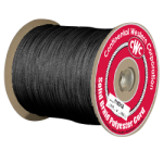 Solid Braid Polyester Rope 1/8 in. x 1000 ft. Black-CWC 110110