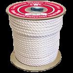Spun Braid Polyester Rope 1/2 in. x 600 ft. White-CWC 216043
