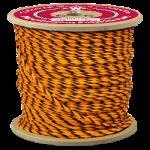 3-Strand Polypropylene Rope 1/4 in. x 1200 ft. Orange & Black-CWC 301017