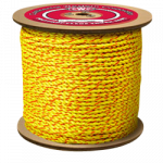 California Truck Rope 1 in. x 600 ft. Yellow W/Orange Tracer-CWC 305046