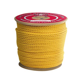 3-Strand Polypropylene Rope 3/8 in. x 600 ft. Yellow-CWC 300075